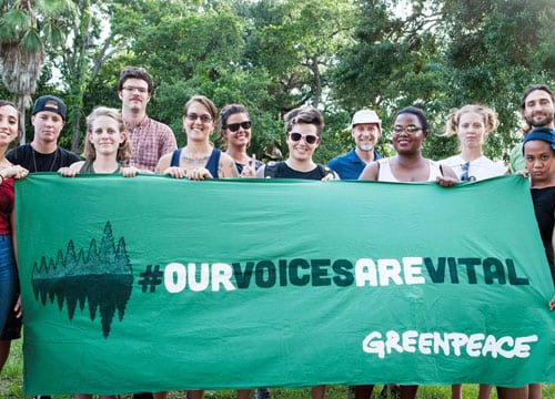 Our Voices Are Vital Banner | Greenpeace