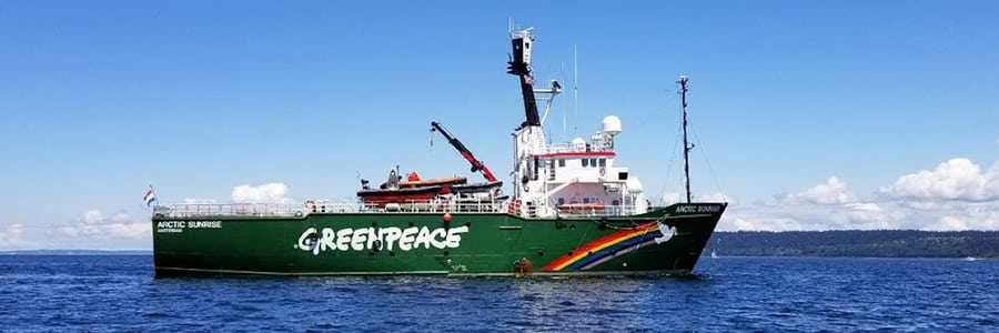 The Greenpeace Ship Arctic Sunrise